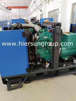 10 Units DCEC Silent Cummins Diesel Generator Assembly For Korea Customer
